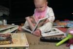 Already an avid reader!