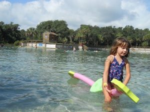 Playing in the water at Lithia Springs
