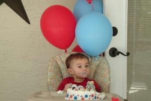 Here's the birthday boy!