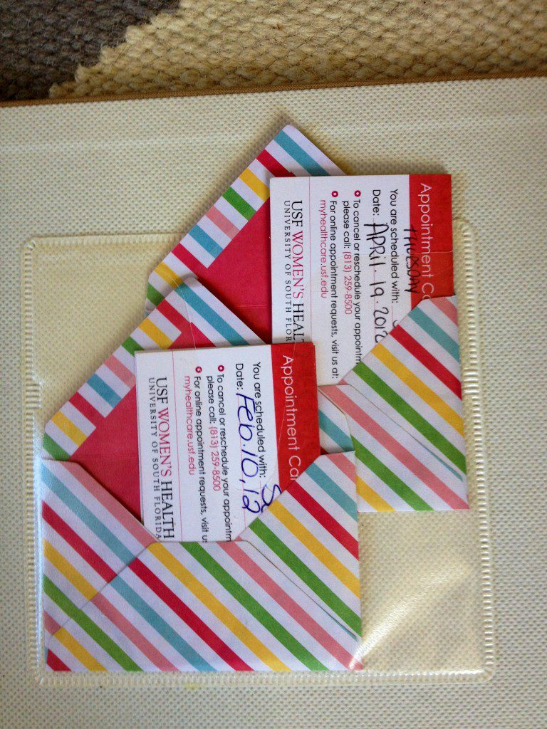 Small, decorative envelopes