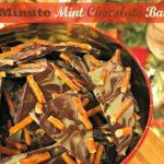 10 Days of Treats: 5 Minute Mint Chocolate Bark