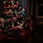 Decorating the Christmas Tree with a Toddler