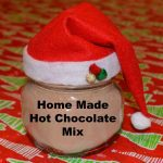 Homemade Hot Chocolate Mix in Santa Jars
