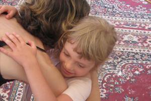 Natalie Hugging
