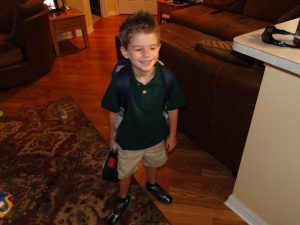 My baby's 1st day of kindergarten - with UNIFORMS!