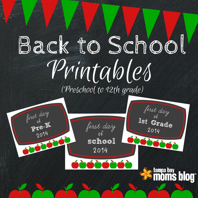 FREE Printable First-Day-of-School Signs 2014!