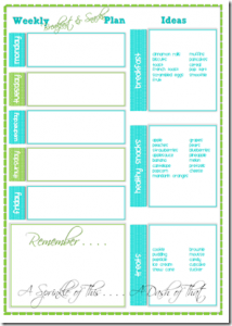 Breakfast and Snack Planner[5]