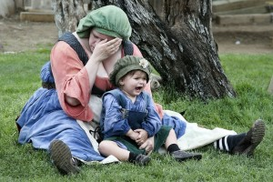New moms have been stressed since the olden days.