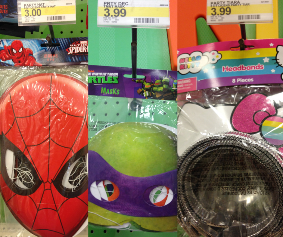 visit the birthday section at target for an inexpensive way to outfit a sibling set or group of friends package of 8 for under 4 - Halloween Ideas For Siblings