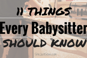 11 Things Every Babysitter Should Know
