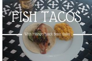 Fish Tacos with Mango Black Bean Salsa