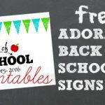 FREE: Adorable Back-to-School Signs for 2015!