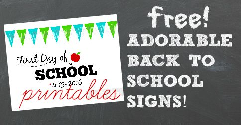 image about Free Printable Back to School Signs identify Absolutely free: Lovable Back again-in direction of-College or university Indicators for 2015!