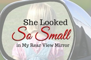 She Looked So Small in My Rear View Mirror