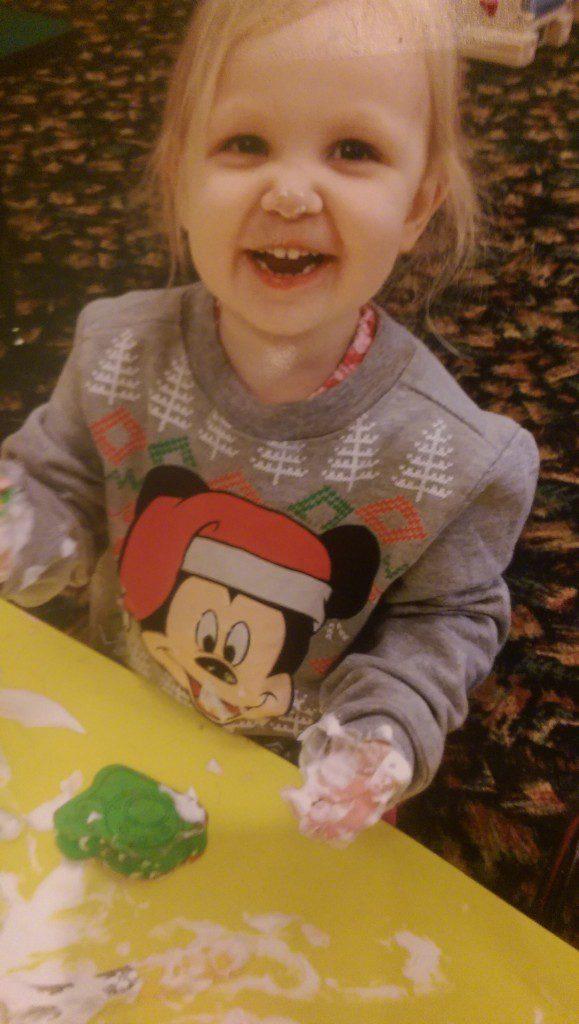 girl, toddler, preschool, playing, crafts, shaving cream