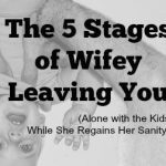 The 5 Stages of Wifey Leaving You (Alone with the Kids While She Regains Her Sanity)