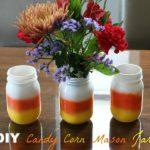 Easy Candy Corn Mason Jar Craft