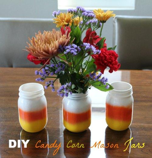 Candy Corn Mason Jar Craft