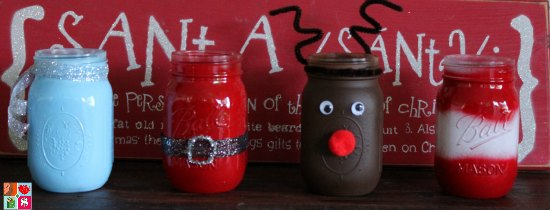 Rudolph The Reindeer Mason Jar Craft