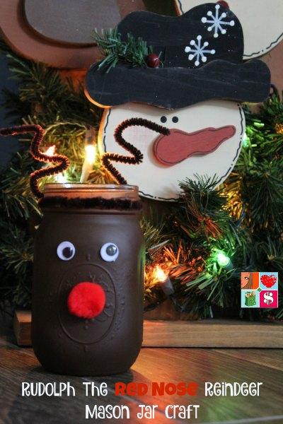 Reindeer Mason Jar Craft