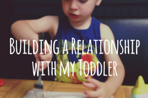 Building a Relationship with my Toddler