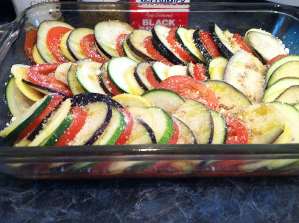 Ratatouille ready to cook