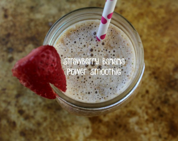 Strawberry Banana Power Smoothie Recipe