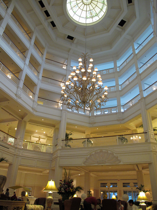 Grand lobby of Disney's Grand Floridian Resort & Spa