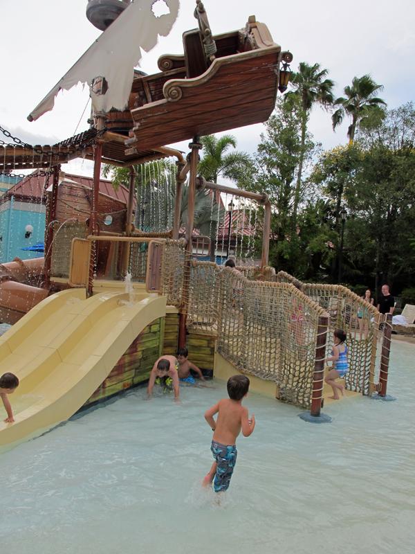 Kids' splash area at Disney's Caribbean Beach Resort