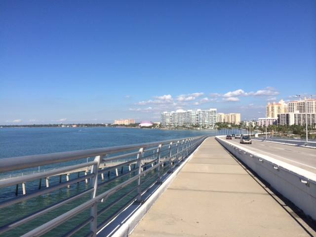 Taking a stroll on the RIngling Bridge