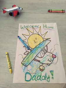 Welcome Home Coloring for Daddy