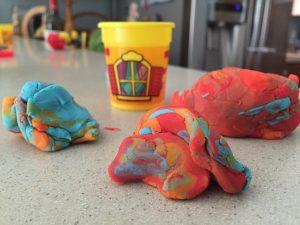 play dough blobs
