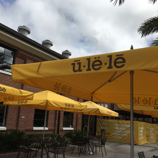 Outdoor dining at Tampa's Ulele restaurant.