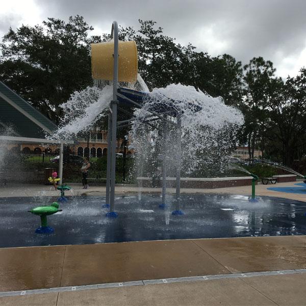 Splash zone at Tampa's Waterworks Park