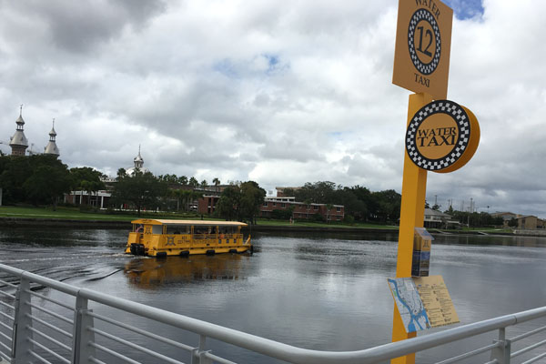 Tampa's water taxi on the Hillsborough River