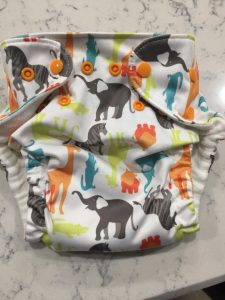 Image of Cloth Diaper with Safari Print