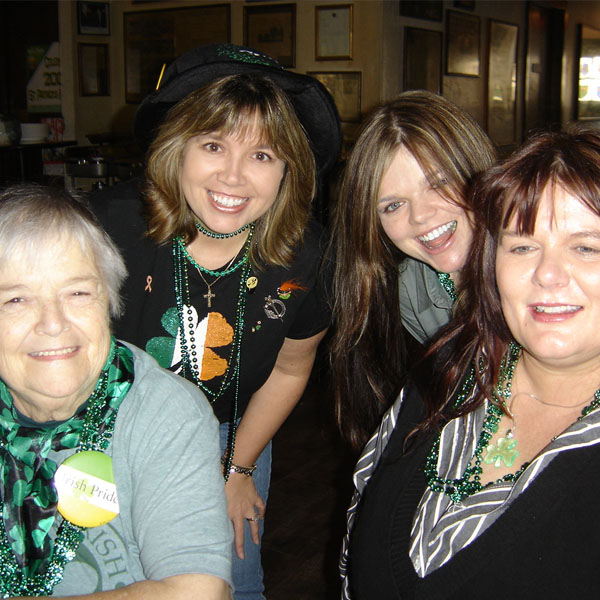 Three generations celebrate St. Patrick's Day