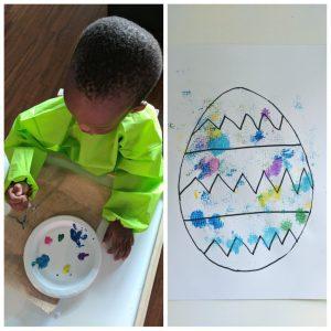 burlap Easter prints