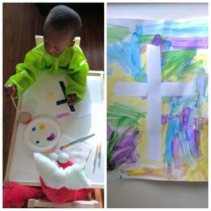 watercolor cross artwork