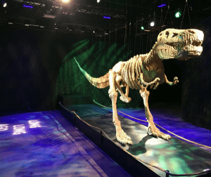 LEGO t-rex at Art of the Brick Tampa