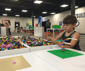 Interactive Build Space at Art of The Brick Tampa