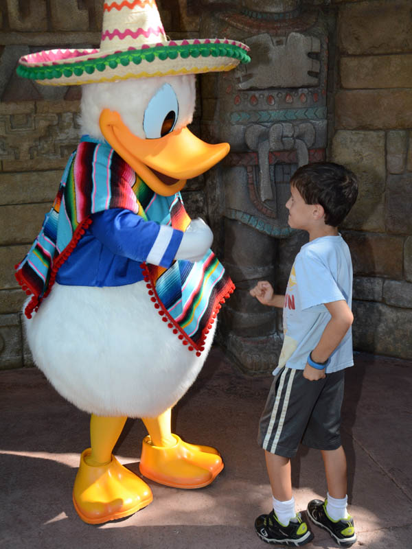 Meeting Donald Duck at Epcot