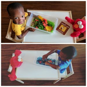 toddler sensory bins from Pinterest