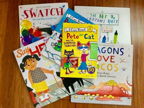 back to school, reading logs, children's books