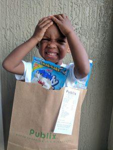 bag of groceries kid costume