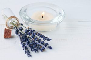 Herbal aromatherapy. Lavender at home.
