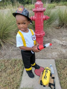 diy kid's firefighter costume