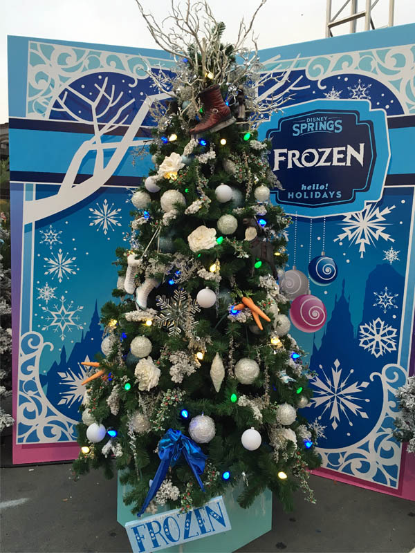Frozen-themed Christmas tree at Disney Springs