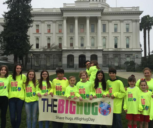 The Big Hug in St. Petersburg on Global Big Hug Day