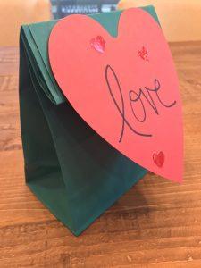 Heart on Valentine's Bag